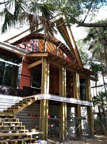 framing is underway at indigo park, kiawah island sc