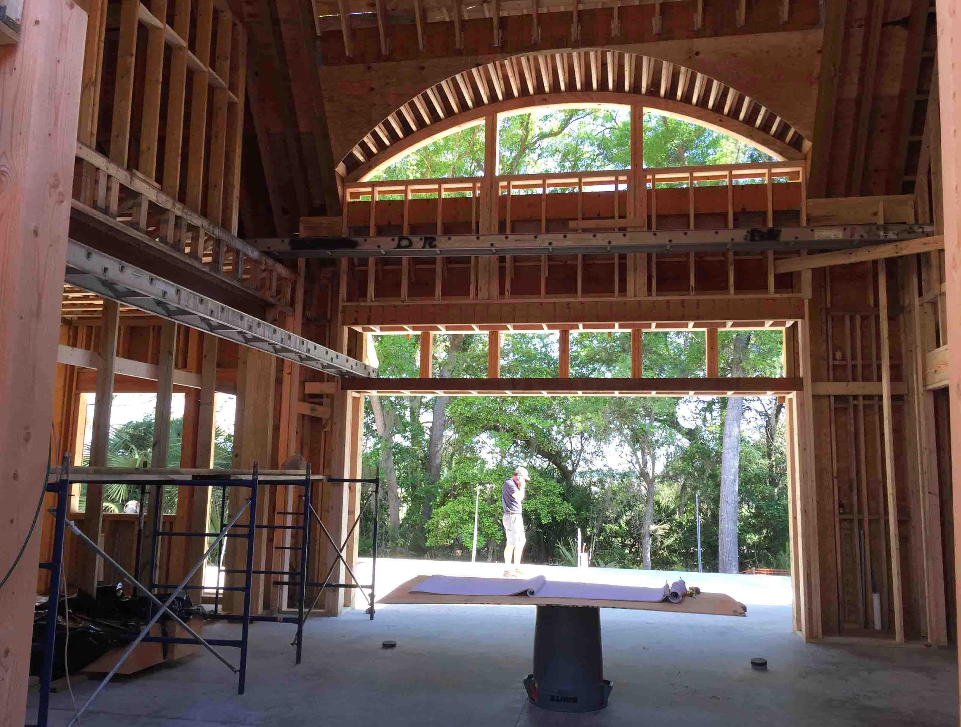 wood framing : an eyebrow window | Cumulus Architecture + Design LLC